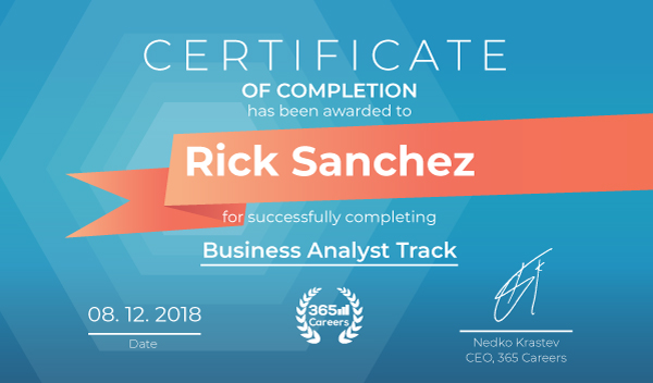 Business Analyst Track Certificate